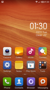 Hongmi MIUI Default Homescreen