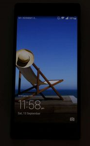 Ascend P7 Display