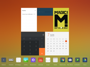 MiPad MIUI V6 Widget Screen